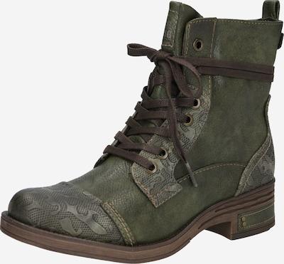 Suvarstomieji kulkšnis dengiantys batai iš MUSTANG , spalva - alyvuogių spalva, Prekių apžvalga