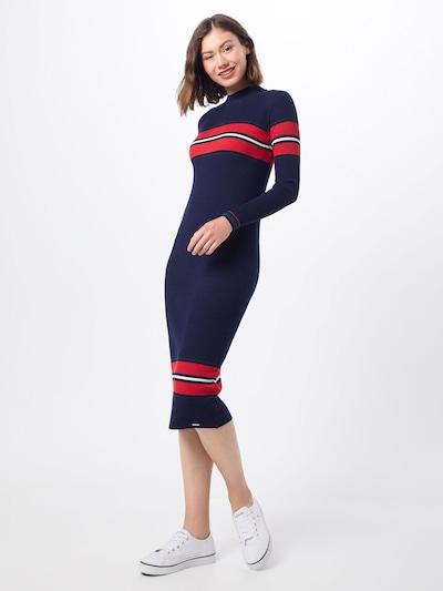 Superdry Kleider 'HALLIE RIBBED BODYCON DRESS' in navy, Modelansicht