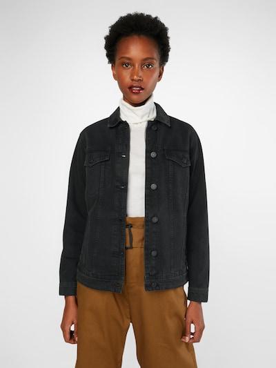 Noisy may Jeansjacke in schwarz, Modelansicht