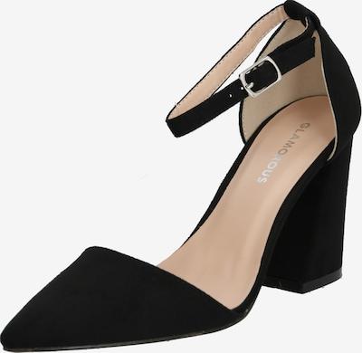 Sandale cu baretă GLAMOROUS pe negru: Privire frontală