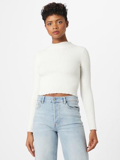 Parallel Lines Pullover in weiß, Modelansicht