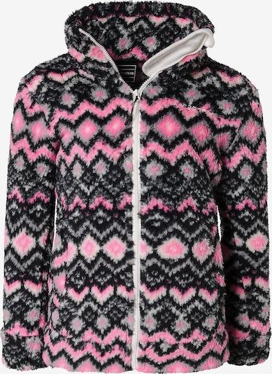 ICEPEAK Fleecejacke 'Lanett' in grau / rosa / schwarz, Produktansicht
