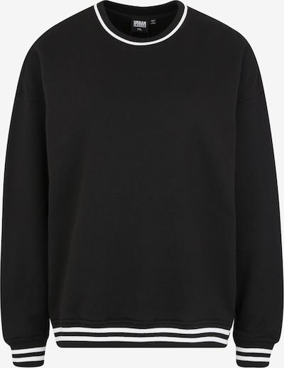 Urban Classics Curvy Sweatshirts 'Ladies College Sweat Crew' in schwarz, Produktansicht