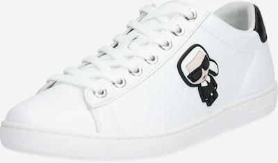 Karl Lagerfeld Baskets basses 'KUPSOLE II Karl Ikonic' en noir / blanc, Vue avec produit