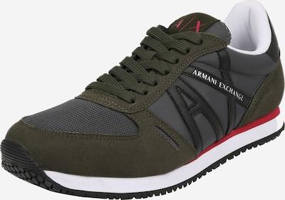 ARMANI EXCHANGE Sneaker in dunkelgrün / grenadine / schwarzmeliert / weiß, Produktansicht