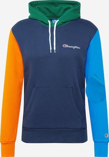 Champion Authentic Athletic Apparel Sweat-shirt en bleu roi / bleu foncé / vert / orange, Vue avec produit