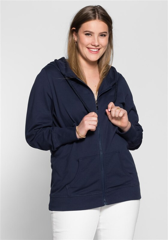 sheego casual Basic Kapuzensweatjacke