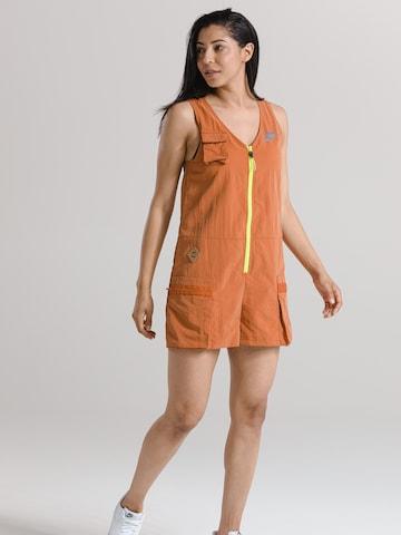 Nike Sportswear Jumpsuit 'W NSW ICN CLSH ROMPER' in Oranje