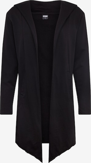 Urban Classics Jopa na zadrgo 'Long Hooded Open Edge' | črna barva, Prikaz izdelka