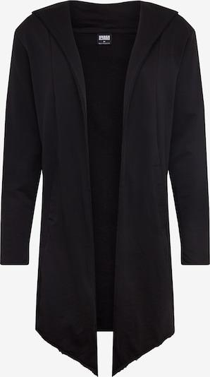 Urban Classics Tepláková bunda 'Long Hooded Open Edge' - čierna, Produkt