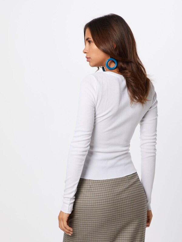 Rib' Review 'henley T En Blanc shirt R3Lc4q5Aj