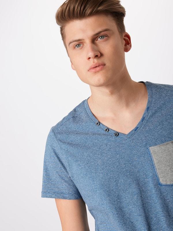 Shirt Blauw Gemêleerd S Grijs Red Label In oliver x1gwt