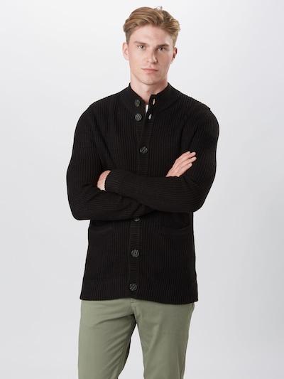 Only & Sons Gebreid vest 'SATO' in de kleur Zwart: Vooraanzicht