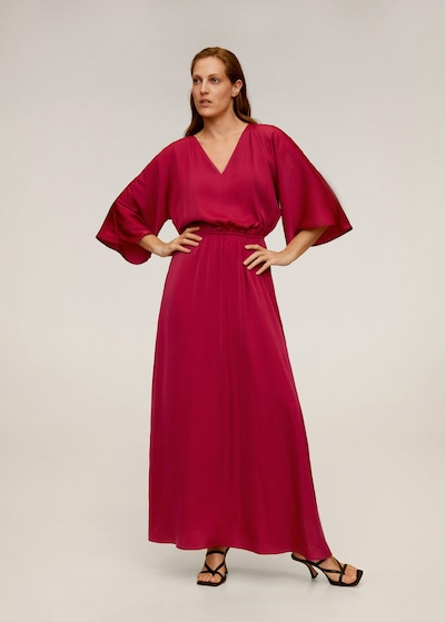 MANGO Kleid 'picas-a' in kirschrot, Modelansicht