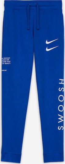 Nike Sportswear Sweathose 'Swoosh' in royalblau / weiß, Produktansicht