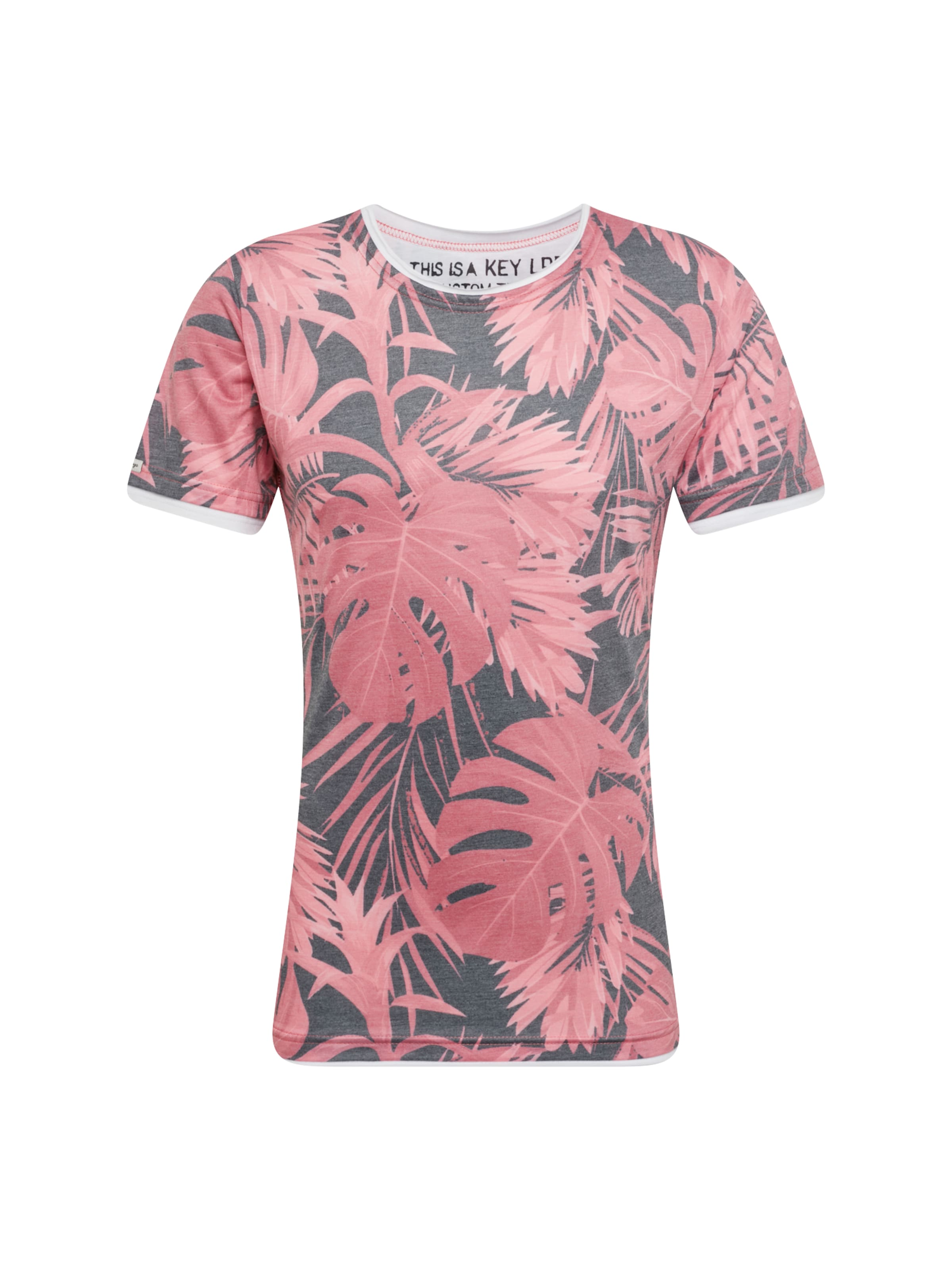 Round' En shirt Rouge De Mélange Yucca Key 'mt T Largo Couleurs g7ORX7