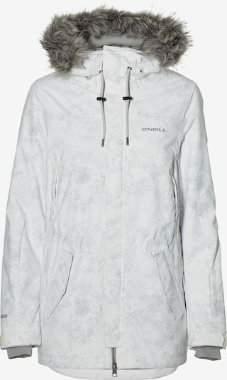 O'NEILL Jacke  'Pw Hybrid' in grau / weiß: Frontalansicht