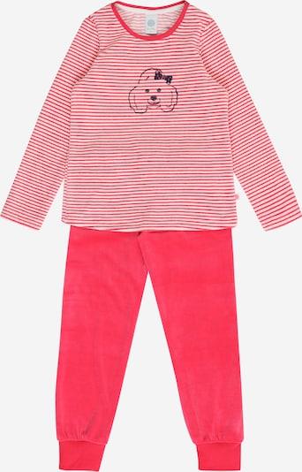 SANETTA Pyjama en rose / noir / blanc, Vue avec produit
