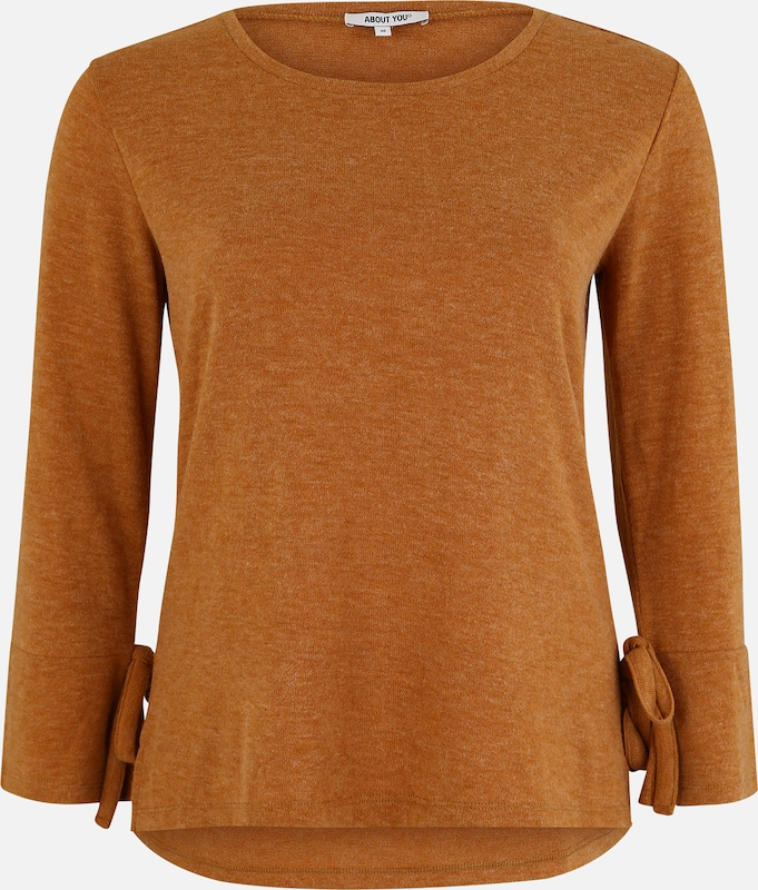ABOUT YOU Curvy Pullover 'Lavina' in cognac, Produktansicht