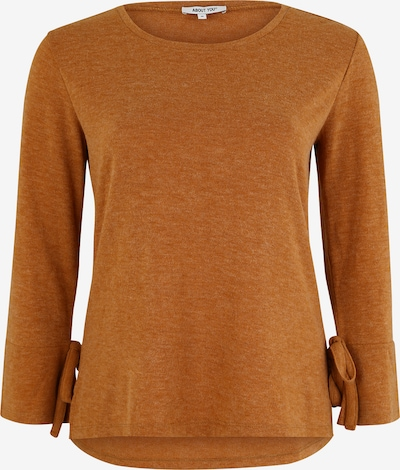 ABOUT YOU Curvy Pullover 'Lavina' in cognac: Frontalansicht