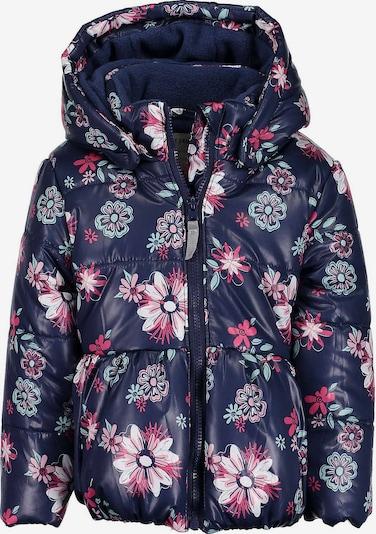 BLUE SEVEN Winterjacke in navy / pastellgrün / pink, Produktansicht