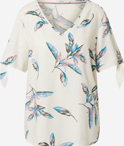 CECIL Bluse in blau / grün / orange / weiß, Produktansicht