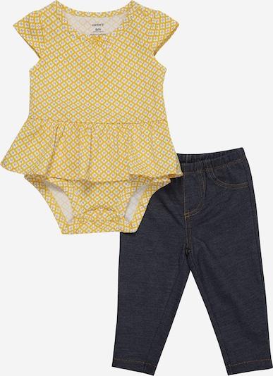 Carter's Bodysuit Pant Set in dunkelblau / gelb, Produktansicht