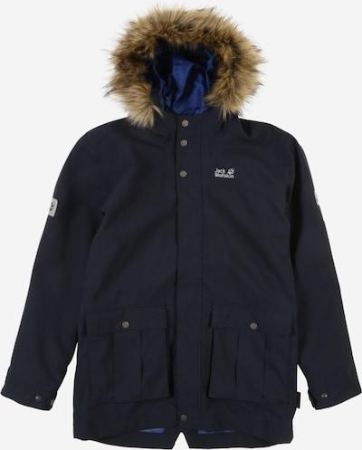 JACK WOLFSKIN Parka 'B Elk Island' in nachtblau / weiß, Produktansicht