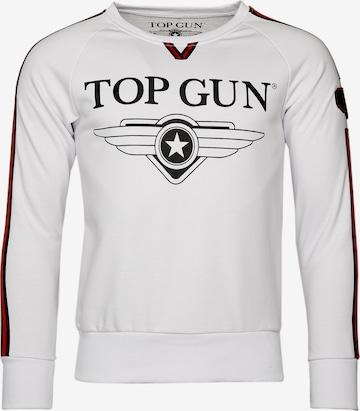 TOP GUN Sweater 'Streak' in Weiß