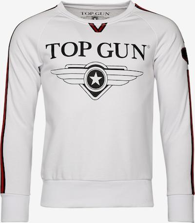TOP GUN Sweater 'Streak' in rot / schwarz / weiß, Produktansicht