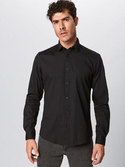 Dalykiniai marškiniai 'N SoliSt Po lsl' iš ESPRIT , spalva - juoda: Vaizdas iš priekio