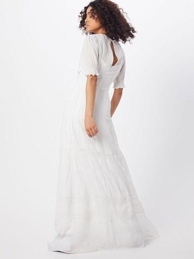 IVY & OAK Avondjurk 'V-NECK BRIDAL CHIFFON DRESS' in de kleur Zwart / Wit: Achteraanzicht