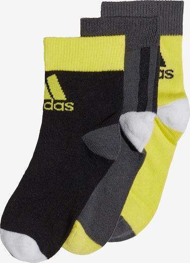 ADIDAS PERFORMANCE Knöchelsocken in gelb / grau / schwarz / weiß, Produktansicht