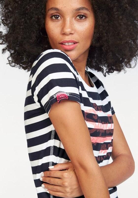 Superdry T-Shirt 'VINTAGE LOGO STRIPE TEE'