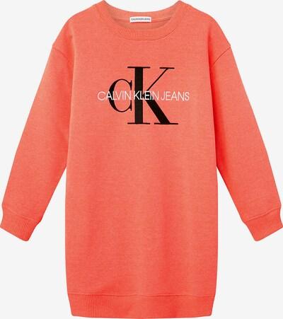 Calvin Klein Jeans Sweatshirtkleid in orange, Produktansicht