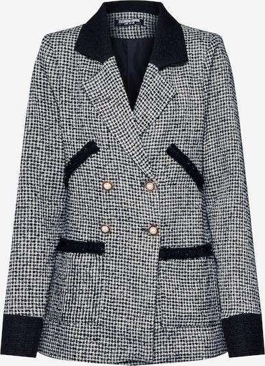 Fashion Union Blazers 'ARLIE' in de kleur Zwart / Wit, Productweergave