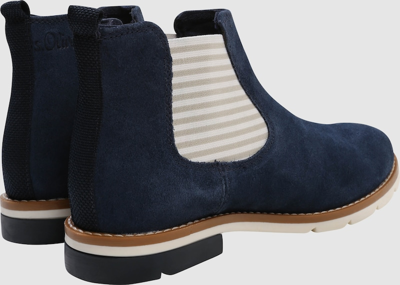 s.Oliver RED LABEL | Chelsea-Stiefelette Veloursleder aus Veloursleder Chelsea-Stiefelette 8287d0