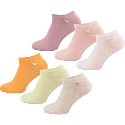 TOM TAILOR Sneakersocken in gelb / orange / pink, Produktansicht