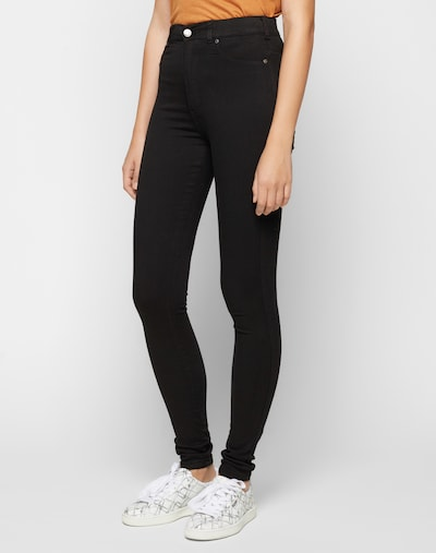 Dr. Denim Jeggings 'Solitaire' in schwarz, Modelansicht