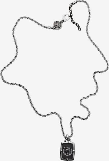 DIESEL Kette 'Single Pendant DX1174040' in silbergrau / schwarz, Produktansicht