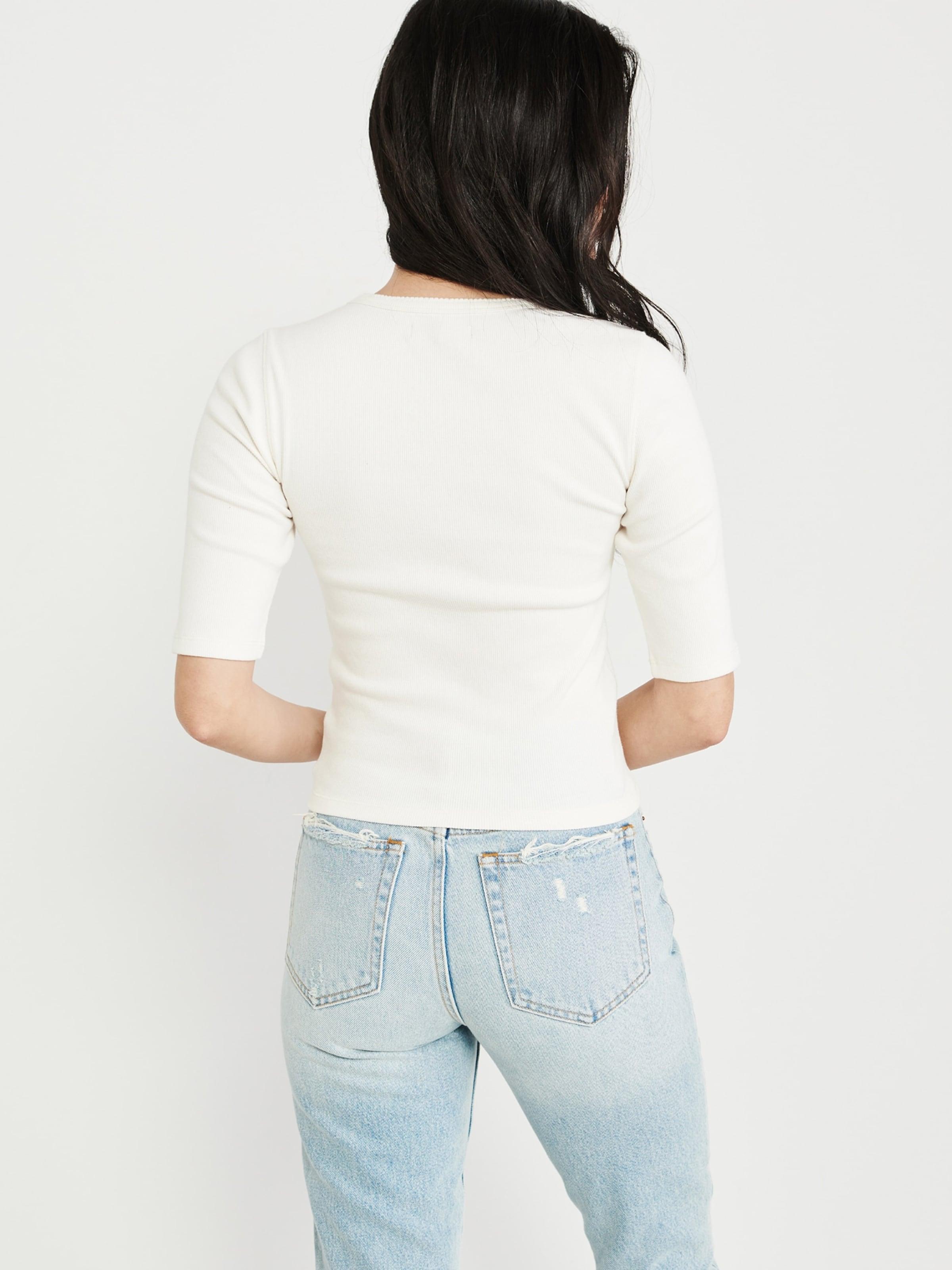 Fitch En T Blanc shirt Abercrombieamp; roxWCedB
