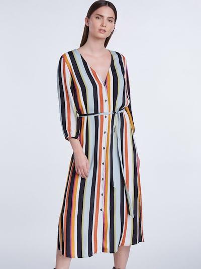 SET Košeľové šaty - opálová / svetlozelená / oranžová / čierna / biela: Pohľad spredu