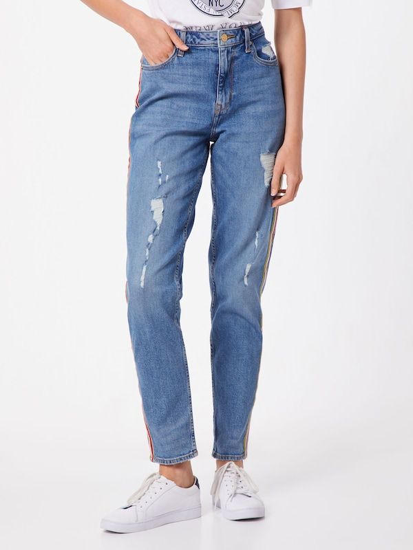 TOMMY HILFIGER Jeans 'GRAMERCY TAPERED HW A UDA' in blue denim, Modelansicht