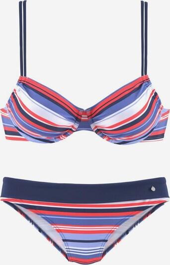 s.Oliver Bikini | modra / rdeča / bela barva, Prikaz izdelka