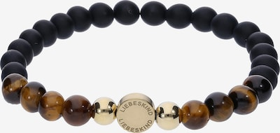 Liebeskind Berlin Armband 'LJ-0091-B-17' in de kleur Bruin / Goud / Zwart, Productweergave