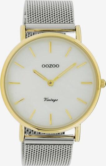 OOZOO Uhr 'C20119' in gold / silber / weiß, Produktansicht