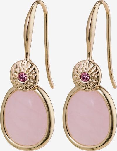 Pilgrim Ohrringe 'Joy' in gold / rosa, Produktansicht