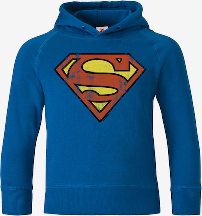 "LOGOSHIRT Kapuzen-Sweatshirt ""Superman"" in blau / gelb / rot: Frontalansicht"