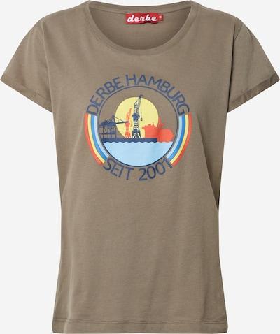 Derbe T-Shirt in hellblau / gelb / khaki, Produktansicht