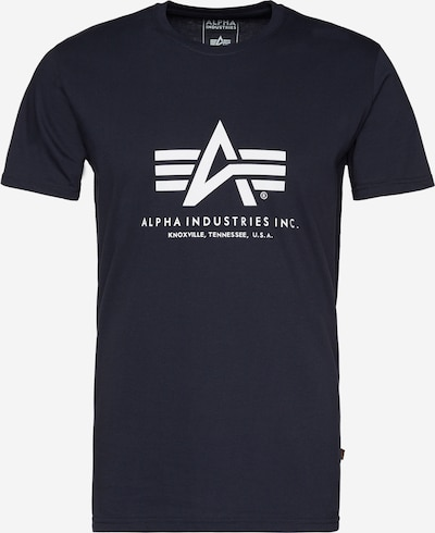 ALPHA INDUSTRIES Print-Shirt in navy / weiß, Produktansicht